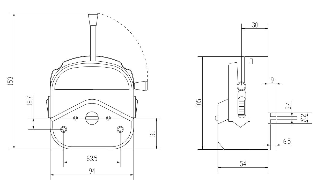 蠕动泵泵头